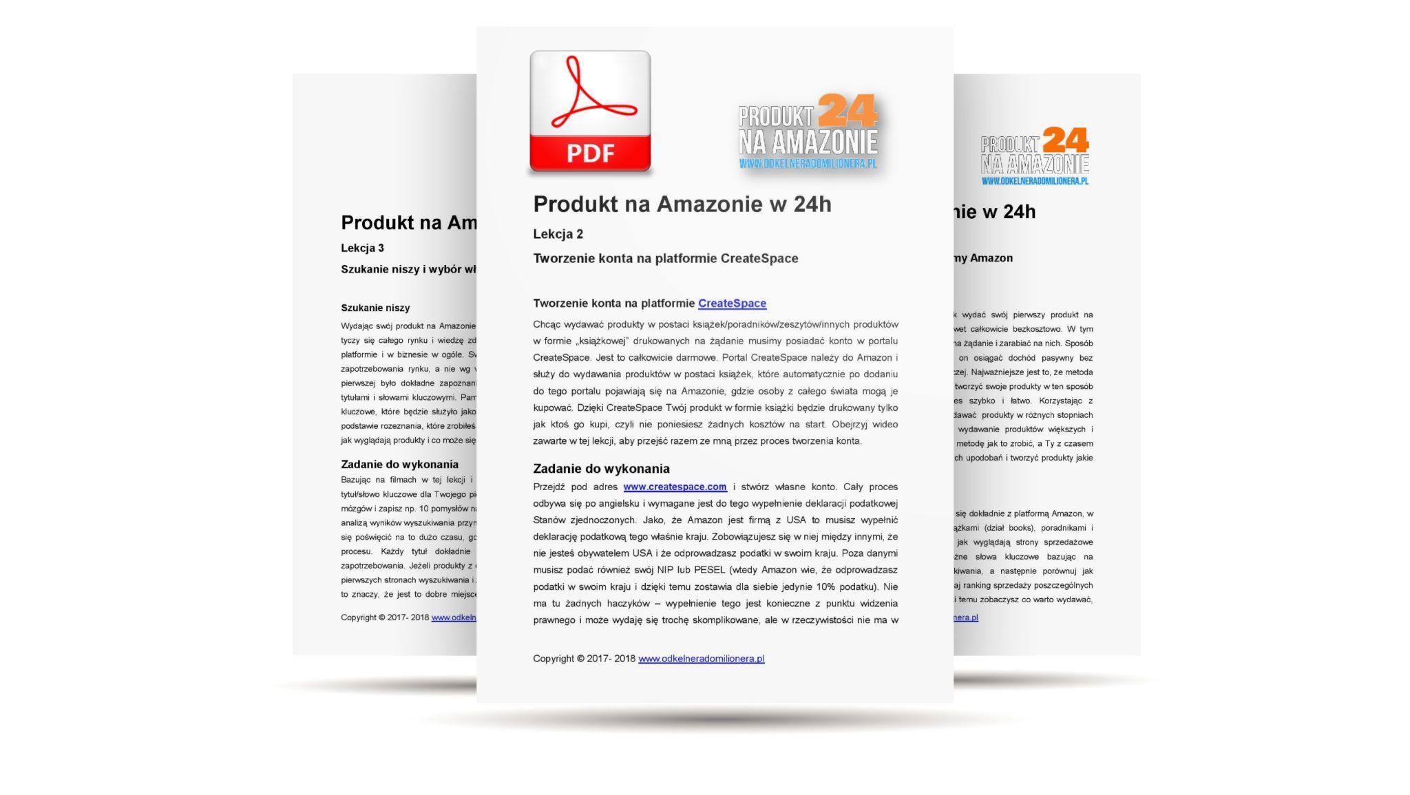 Kurs Amazon Produkt24 - Skrypty lekcji w PDF
