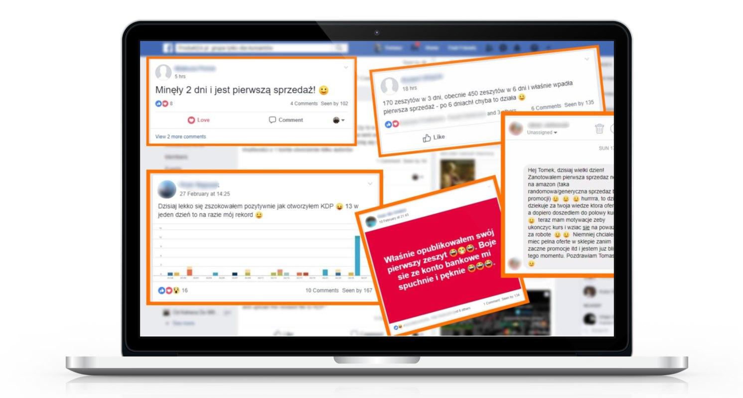 Kurs Amazon - grupa na Facebooku dla kursantów