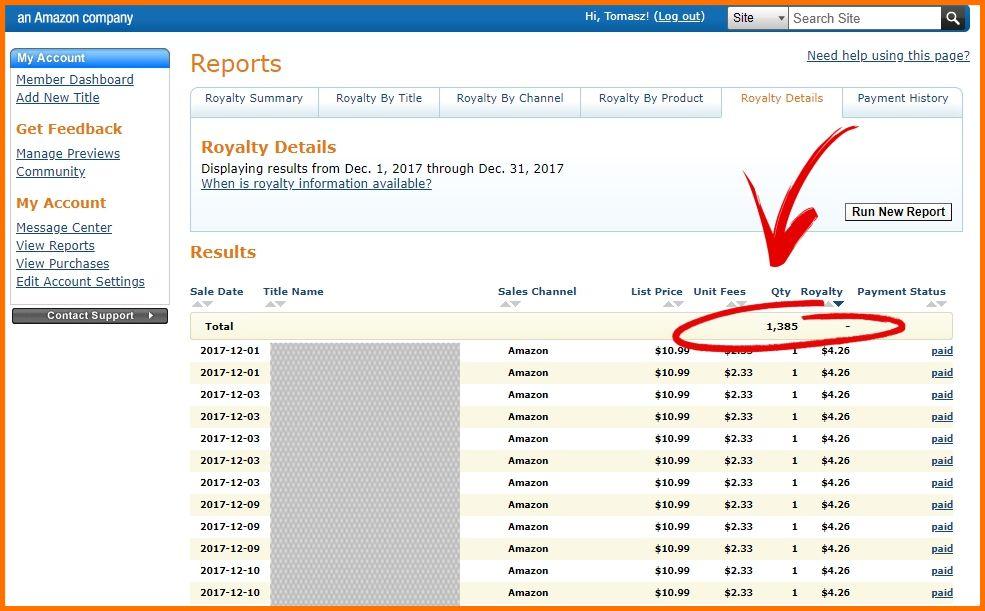 Kurs Amazon Produkt24 - moje wyniki